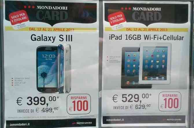 Offerta-Samsung-Galaxy S3-Apple-iPad